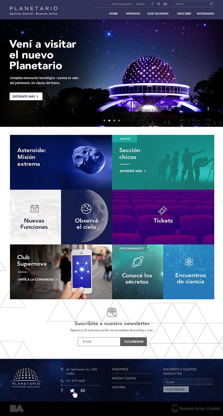 Planetario web